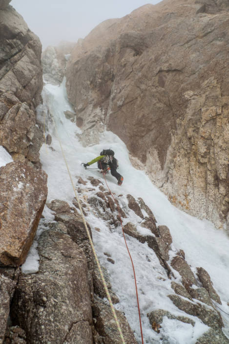Myself on the 'crux' of the Japanese couloir , © will sim