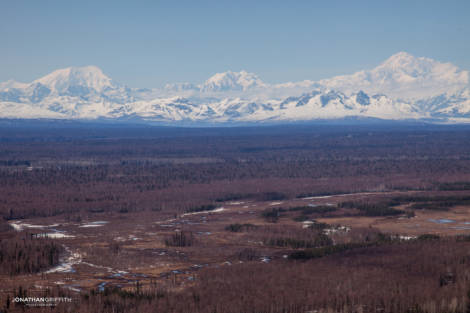 Taking off from Talkeetna..the big three: Foraker, Denali and Hunter
