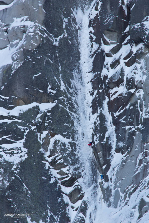 Seb Ratel pulling out of the lower crux corner