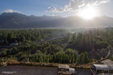 Sunset over Skardu