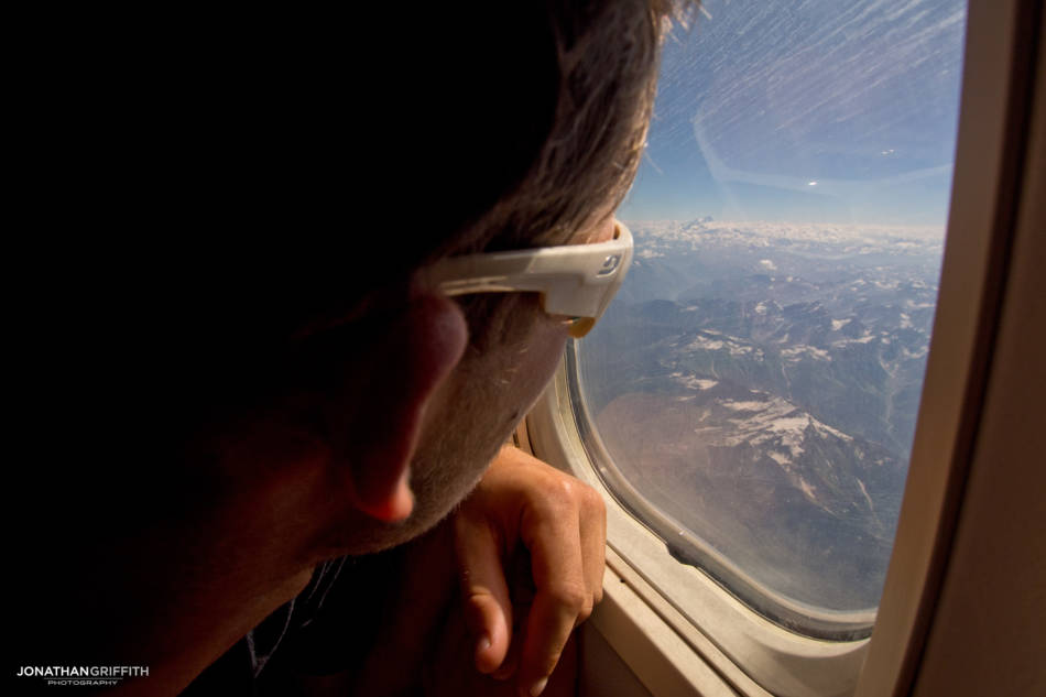 Will eyes up Nanga Parbat from the plane