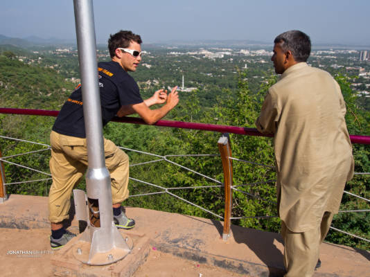Will and Sijah taking in the sights of Islamabad
