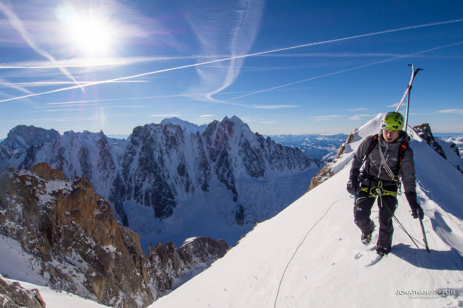 Summit ridge with the Argentiere basin in the background