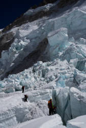 Crevasses in the Khumbu Icefall