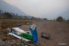 One of the unlucky flights at Lukla Airport