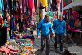 Ueli and Simone in Namche Bazar