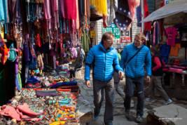 Ueli and Simone in Namche Bazar