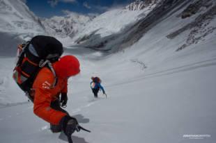 Ueli and Simone on the Lhotse Face