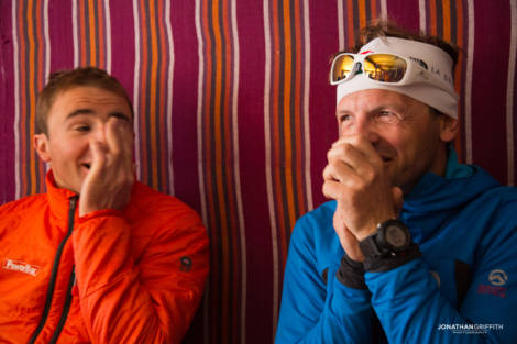 Ueli and Simone at our final guest house before Base Camp