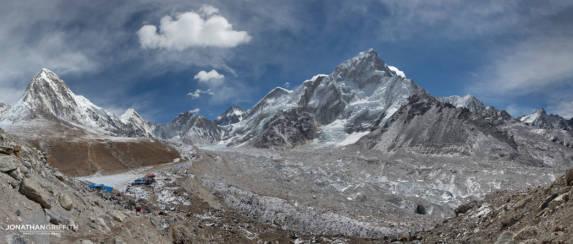 The Khumbu Valley from Gorak Shep