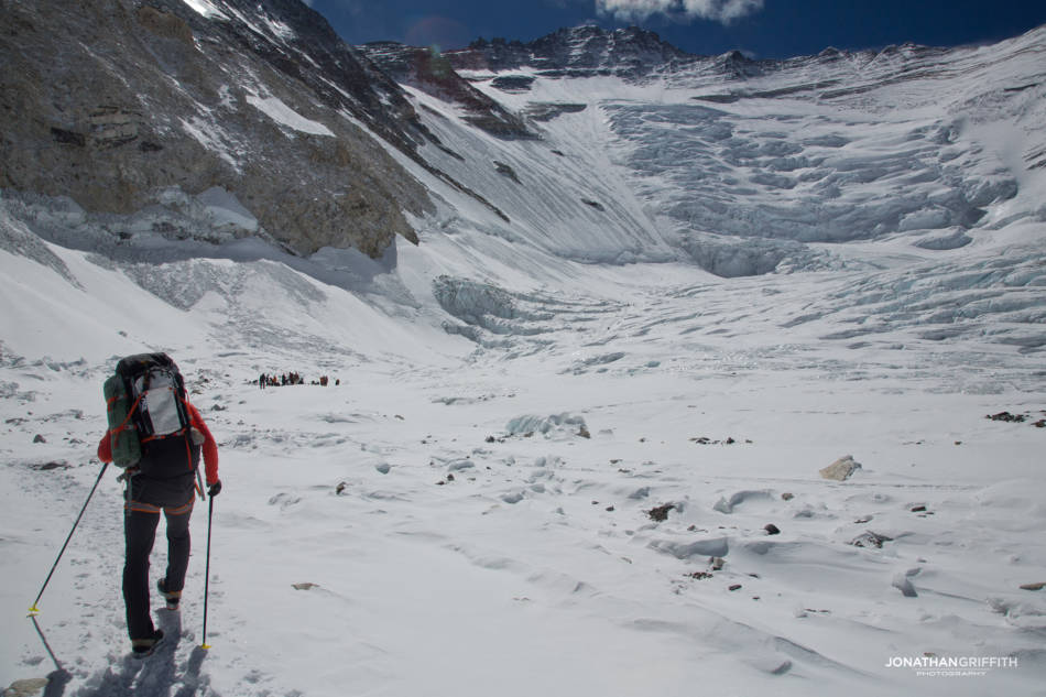 Ueli heads in to the Lhotse Face