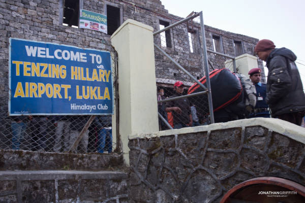 Arrival at Lukla airport