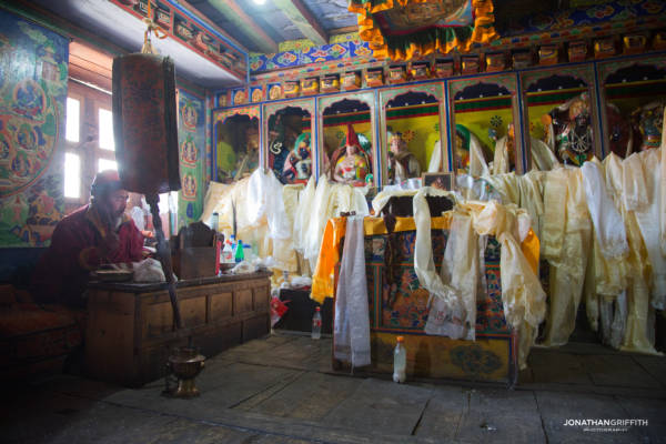 Puja ceremony for good luck
