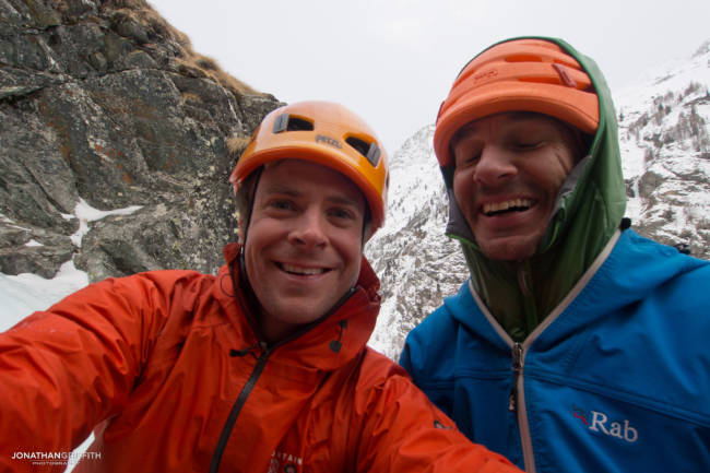 Myself and Jeff...ice climbing can be fun as well