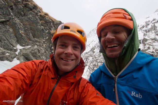 Myself and Jeff...ice climbing can be fun as well