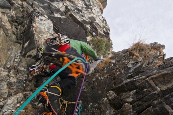 Jeff Mercier on the very colourful Gelati No Ice, Cogne