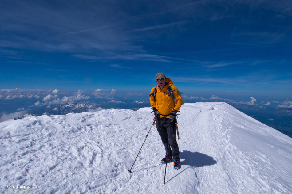 Feeling battered on the summit of Mont Blanc