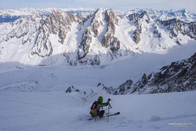 In the Couturier looking over the Argentiere Basin