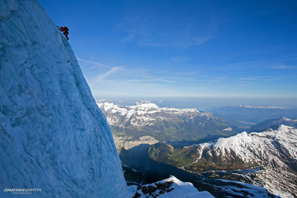 One of my favourites- Ueli Steck soloing the serac ice on the Nollen route