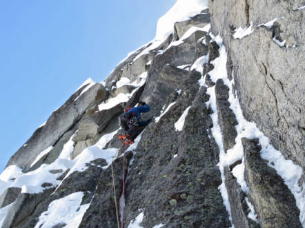 Two thin slabby pitches at the top, © Dan Joll