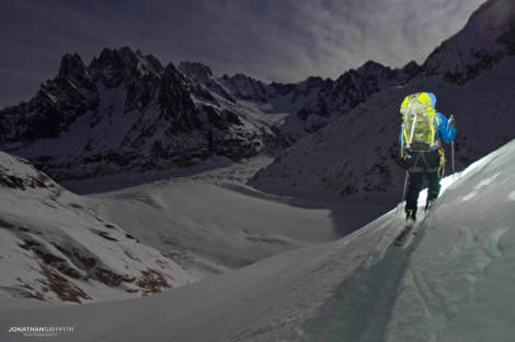 Powder full moon Vallee Blanche descent. Doesnt get much better than that