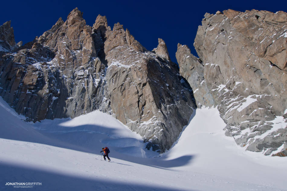 Adam George heads in to the Supercouloir the day before to recce