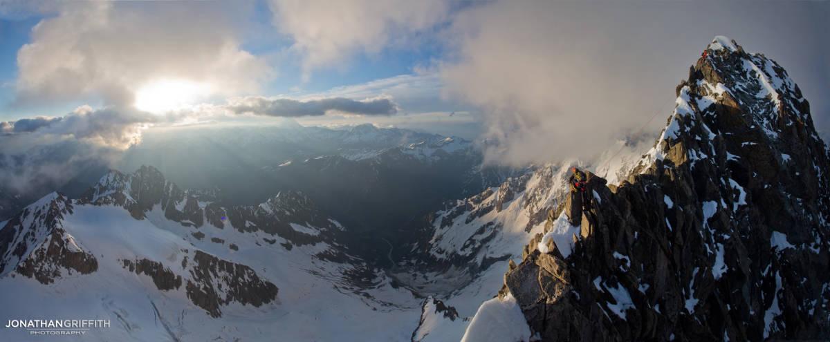 Summit ridge of the Tour Noire at sunrise