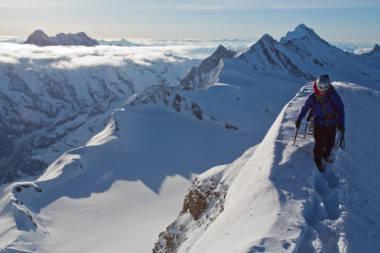 Final summit ridge of the Monch