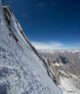 Andy Houseman nears the top of Drifika