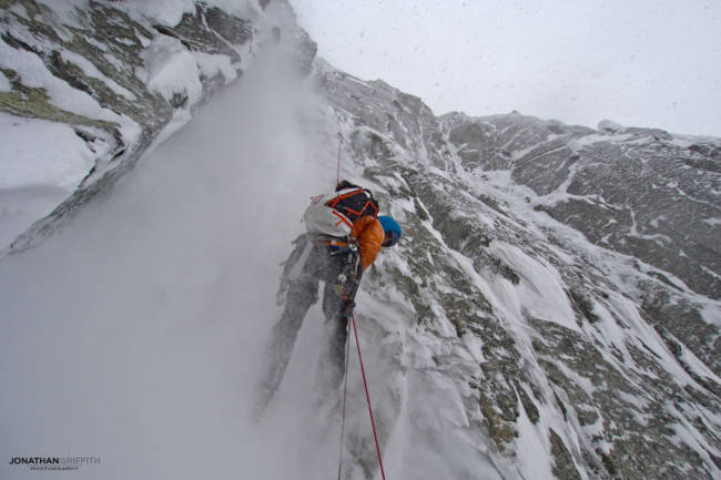 Tom Grant rapping off Ice is Nice in some nasty weather