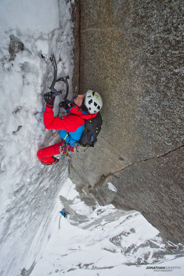 Seb Ratel on the crux corner of Beyond Good and Evil