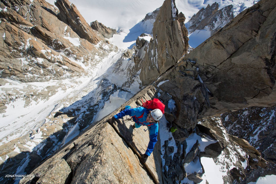 Ben Briggs on the Diables Arete