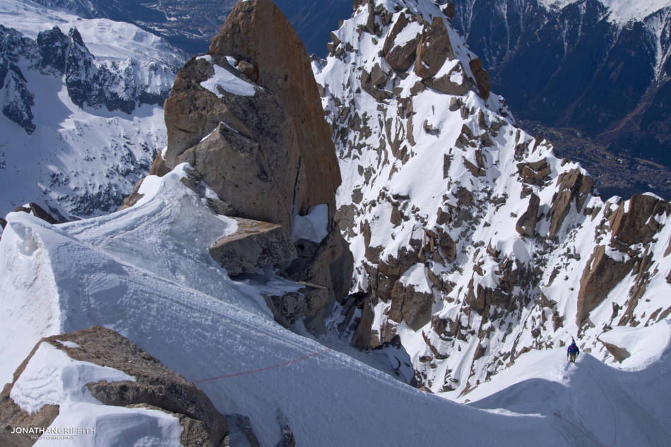Looking back at Ally and the Mont Blanc