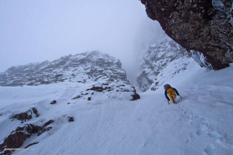 Heading up West Central Gully