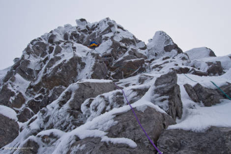 The top part of Central Buttress