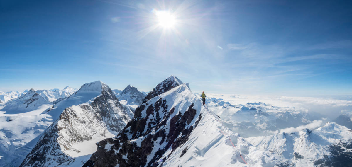 Summit ridge of the Eiger