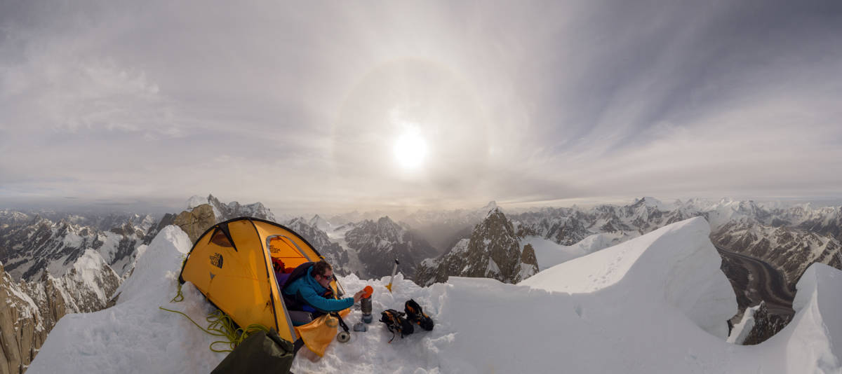Bivouac by the West Summit