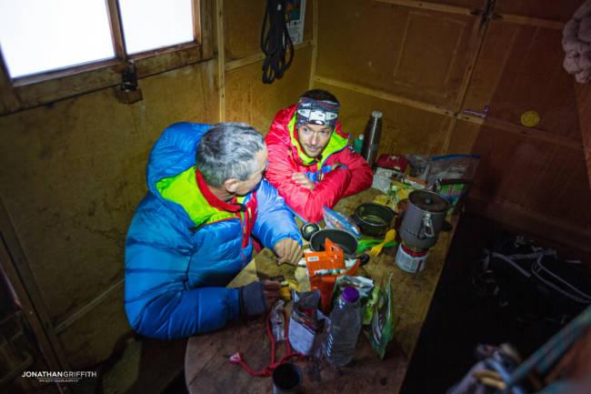 At the Canzio bivouac hut