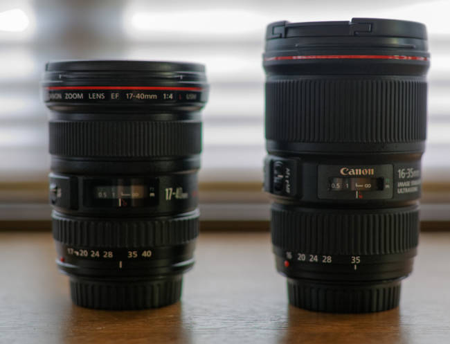 The 16-35 vs 17-40, quite the size difference © http://www.florianbieler.de