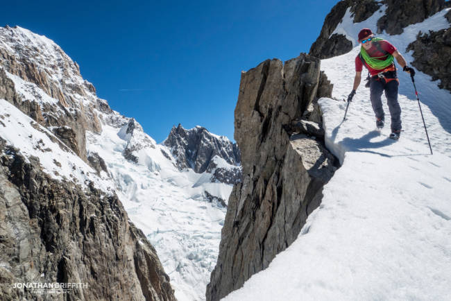 Wild backdrops but wary of the huge cornices everywhere now