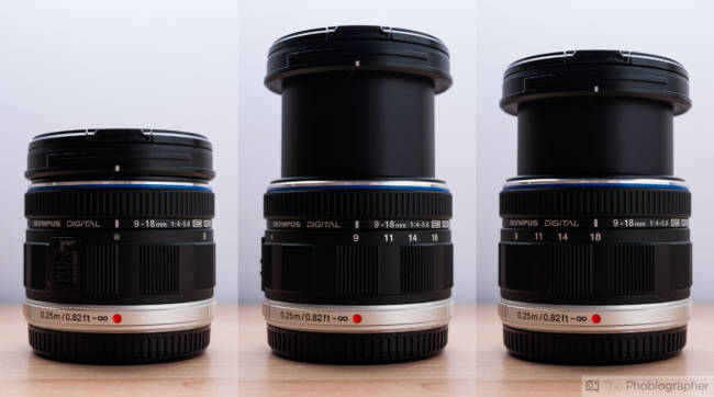 The clever expansion and retraction system of the M Zuiko 9-18. © mmhttp://www.thephoblographer.com