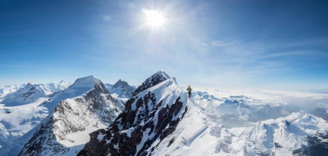 Summit ridge of the Eiger