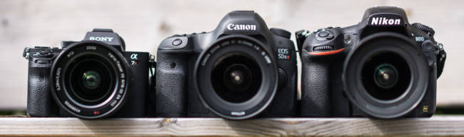 Sony A7, Canon 5D, and Nikon D810, © fotovideo.nu