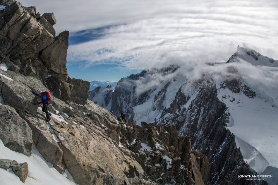 The weather starts to roll in off Mont Blanc
