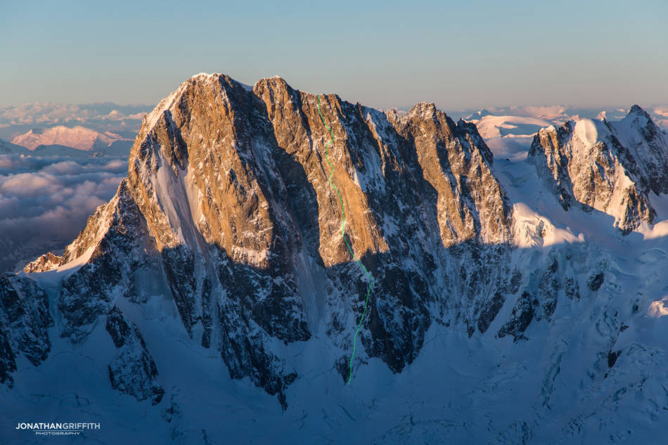 The North Face of the Grandes Jorasses
