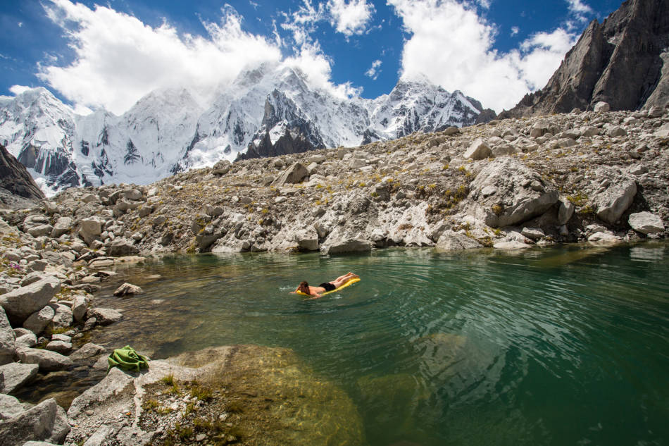 Not every Himalayan basecamp comes with its own swimming pool