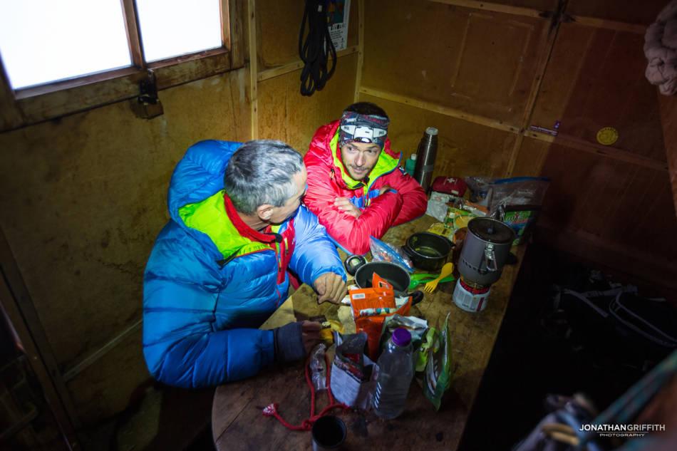 In the Canzio Hut