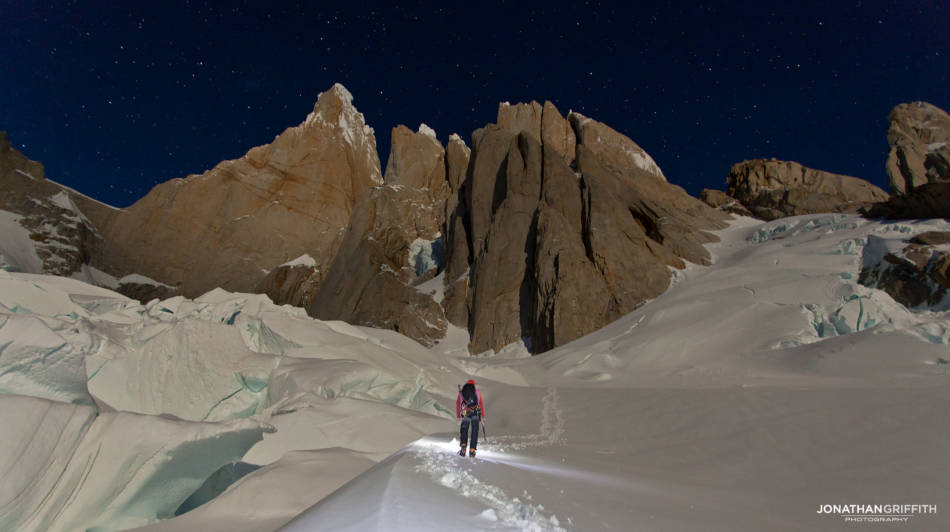 Another quick shot- taken on the walk in to the Cerro Torre massif, camera sitting on my pack. One shot was all it took- over time you end up getting it right first time every time