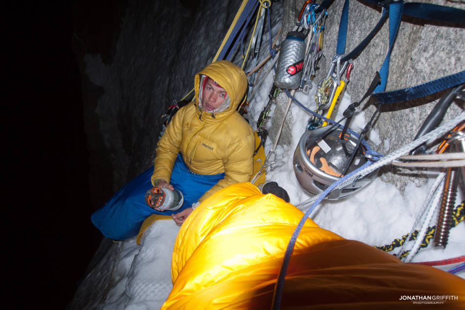 A pretty terrible first night's sleep on No Siesta, Grandes Jorasses