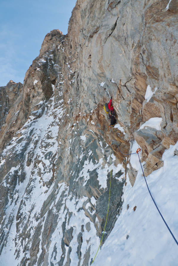 Heading up the rock section, © Will Sim